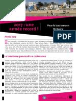 Le bilan 2017 du Comité Régional du Tourisme de Bretagne