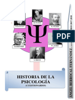 Historia de La Psicología. Cuestionarios Por Temas
