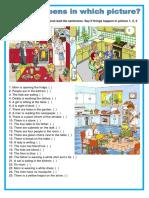 Picture Description Kitchen Oneonone Activities Picture Description Exercises 104371