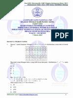 Soal OSN Matematika SMP Tingkat Kota 2015