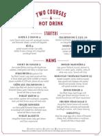 Café Rouge Travelzoo menu