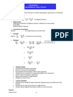 Chapter 4.2 Algebraic FractionsEnhancement
