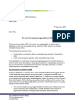 Letter from Committee on Climate Change to Chris Huhne on renewable energy targets