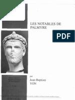 Jean-Baptiste YON - les notables de palmyre