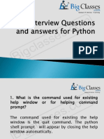 Top Interview Questions and Answers for Python