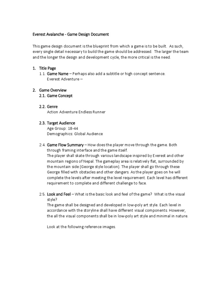 GameDesignDoument How To Wite A Game Design Document Sroth Code - High concept document game design