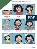 Fichas Verbos Ilustrados Profedeele EDITABLE 1.1