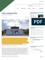 A OMC e a Conferência de Bali » Política Externa