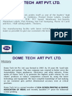 Dome Tech Art Pvt Company Presentation