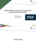 Astellas Ireland Comnpany Ltd Ampoule Inspection Machine