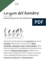 Origen Del Hombre - Wikipedia, La Enciclopedia Libre