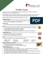 BakerIDI Factsheet Healthy Snacks