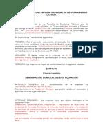 Constitución de Una Eirl Sebastian