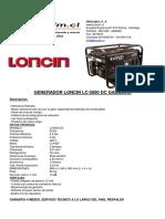 Generador Electrico Loncin Lc-5000 Gasolina P-manual-0-1