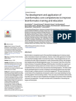 The Development and Application of Bioinformatics Core Competencies to Improve Bioinformatics Training and Educatio