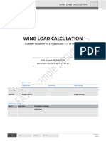 Wing Load Calculation