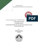 laporan pkl excavator