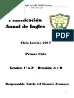 Planificacion Anual 2017 Pablo Pizzurno