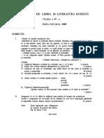 2009 Română Etapa Locala Subiecte Clasa a IV-A 0