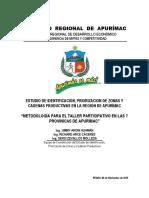 Estudio de Identificación, Priorización de Zonas y Cadenas Productivas en La Región de Apurímac