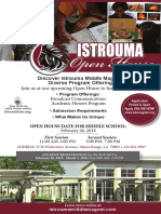 Open House Flyer Istrouma Middle Magnet School 2nd Application