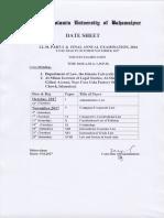 Date Sheet LL.M a-2016