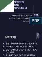 Sistem Referensi Geodetik Dan Penentuan Posisi Di Laut Marine Kadaster
