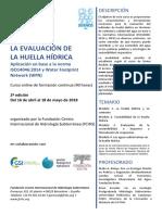 """2º Curso online """"La evaluación de la huella hídrica"""""""