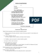 Ficha de Revisões - Texto Poético 8º Ano
