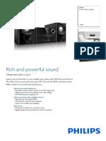Microsistem Philips Mcm1150_12, 20w, CD, Usb, Fm