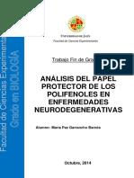 Uso Polifenoles en Enfermedades Neurodegenerativas