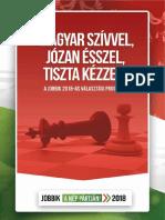 A Jobbik 2018-as választási programja
