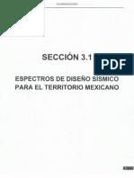 Sección 3.1 Espectros de Diseño