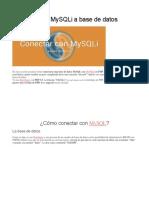 Conectar Con MySQLi a Base De Datos
