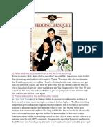 Wedding Banquet Screening Report 4