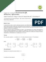 Regla de Cramer y Factorización QR — Álgebra Lineal.pdf