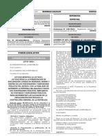 LEY N° 30521 modif. art. de la ley 30161
