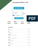 Contoh Proposal Pendirian Cv PDF