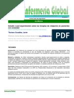 Estudio Cuasiexperimental Sobre Las Terapias de Relajación en Pacientes Con Ansiedad
