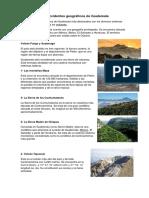 Accidentes Geograficos de Guatemala