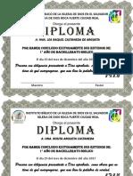 Diplomas Efomi Bachillerato 2017