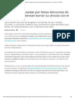 Abogadas Imputadas Por Falsas Denuncias de Malos Tratos Intentan Borrar Su Vínculo Con El PSOE