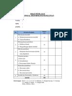 Daftar Penilaian Tugas Proposal