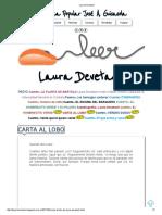 Laura Devetach Carta Al Lobo