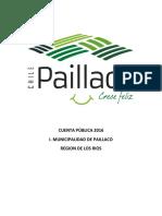 Cuenta Publica Paillaco 2016