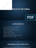 El Conflicto en Siria DIAPOSITIVA