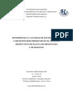 Determinar La Cantidad de Macrostickies y Microestikies Presentes en El Proceso Producto de La Planta Destintado