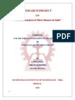 Rahul Project on Micro Finance
