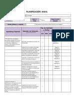 Planificación Anual Tecnología 7°Básico
