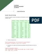 Lista de Exercício P3
